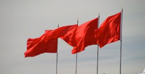 Hard to find a picture of 11 red flags