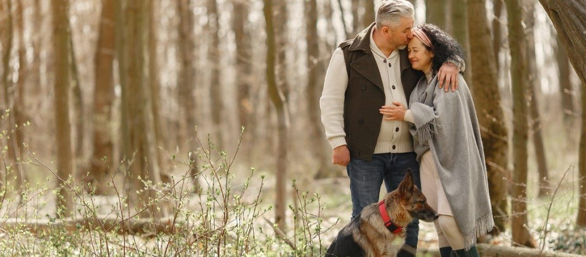 old white man old white woman dog woods (2)